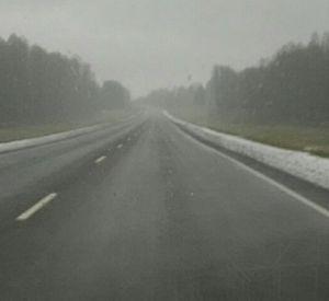 В Смоленской области выпал первый снег