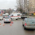 «Ока» на Витебском шоссе подбила карету «скорой помощи»