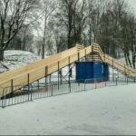 В новогодние праздники ледяную горку в Лопатинском саду сделают бесплатной