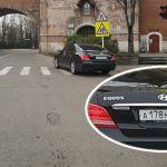 «Членовоз» с московскими номерами в Смоленске грубо нарушил правила дорожного движения