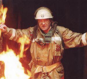 Во время пожара пострадал человек