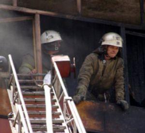 В области загорелся балкон