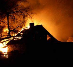 В области сгорели три бани