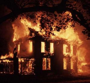 Неисправная проводка стала причиной пожара