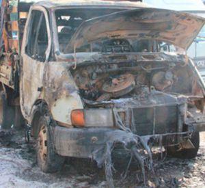 В Смоленской области полыхал грузовой автомобиль