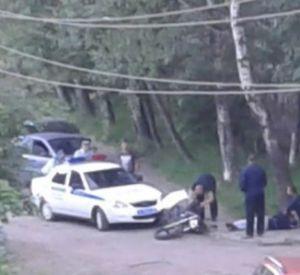Автомобиль ГИБДД сбил мотоциклиста