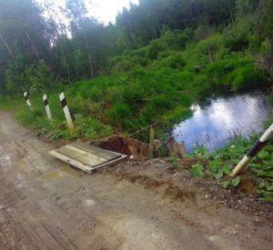 Следствие проверит информацию о разваливающемся мосту в Вяземском районе (Фото)