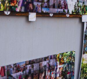 Неизвестные вандалы испортили арт-панно на набережные реки Днепр