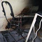 В подъезде дома сгорела детская коляска