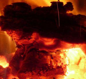В Вяземском районе огнем уничтожен деревянный дом