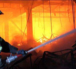 В области сгорел магазин продуктов
