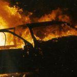 В Смоленске иномарка загорелась во время движения
