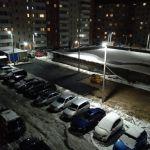 Укладка асфальта по-смоленски: Горячий асфальт закатали в снежную кашу