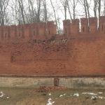 В Смоленске произошло обрушение участка крепостной стены