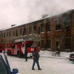 В Ярцеве сгорела бывшая фабрика пианино