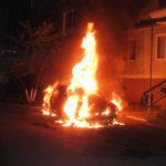 В Печерске сгорела отечественная легковушка