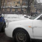 Отечественный автомобиль подбил малолитражку