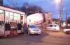 Столкновение такси и трамвая попало в объектив видеорегистратора