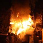 В Краснинском районе горела пилорама