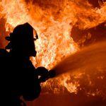 В Тёмкинском районе сгорел манипулятор «Урал»