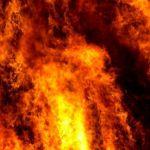 В девятиэтажном доме вспыхнул пожар