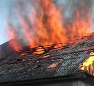 В Заднепровском районе воспламенилась заброшенная постройка