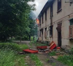 Видео: В Смоленске горел очередной барак