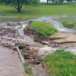 Парк 1100-летия Смоленска смыло водой