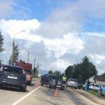 На въезде в Смоленск произошла жесткая авария