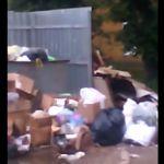 Свалку на Колхозной площади сняли на видео