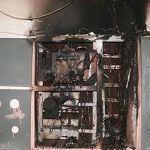 В пятиэтажном доме горел электрощиток