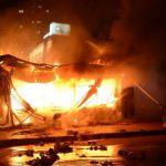 Видео: Ночью в Смоленске сгорело бистро