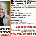 В Смоленской области пропала пенсионерка