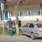 Момент жесткого столкновения автомобилей попал на видео