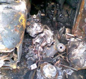 В Смоленской области сгорел питбайк