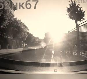 Нарушение правил дорожного движения попало на видео