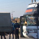 «Пункт назначения по-смоленски». Стекло автобуса проткнул металлический штырь
