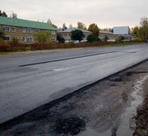В Печерске приступили к ямочному ремонту на свежеотремонтированной дороге