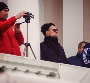 Актер Данила Козловский посетил матч смоленского ЦРФСО
