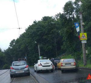 Массовая авария на Дзержинке (фото)