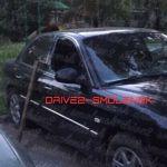 Пьяные хулиганы разбили припаркованный автомобиль