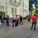 В свадебном салоне на Большой Советской обрушился потолок