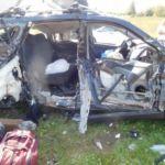 В жесткой аварии под Смоленском пострадали два человека