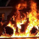 В Смоленской области воспламенился экскаватор-погрузчик