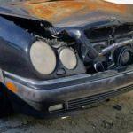 В Смоленской области загорелся Mercedes-Benz