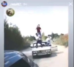 """Подростки устроили экстремальные """"покатушки"""" на крыше """"Жигулёнка"""" (видео)"""