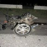 Лихач на мотоцикле попал под автомобиль на федеральной трассе