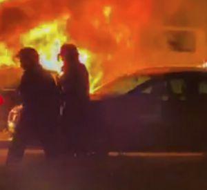 В областном центре загорелись три автомобиля