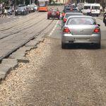 Дорожное покрытие на улице Николаева до сих пор находится в «убитом» состоянии (Фото)