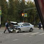 Патрульный автомобиль стал участником аварии (фото)